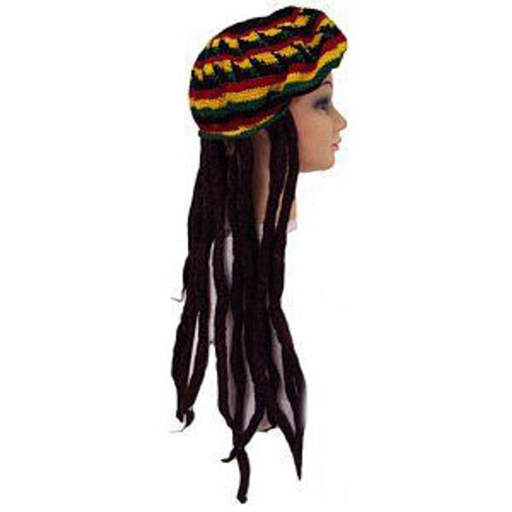 Dredlocks with Rasta Tam Hat