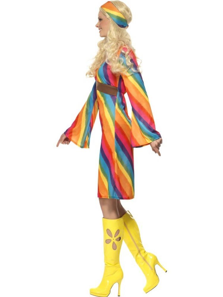 1960s Rainbow Hippie Womens Costume