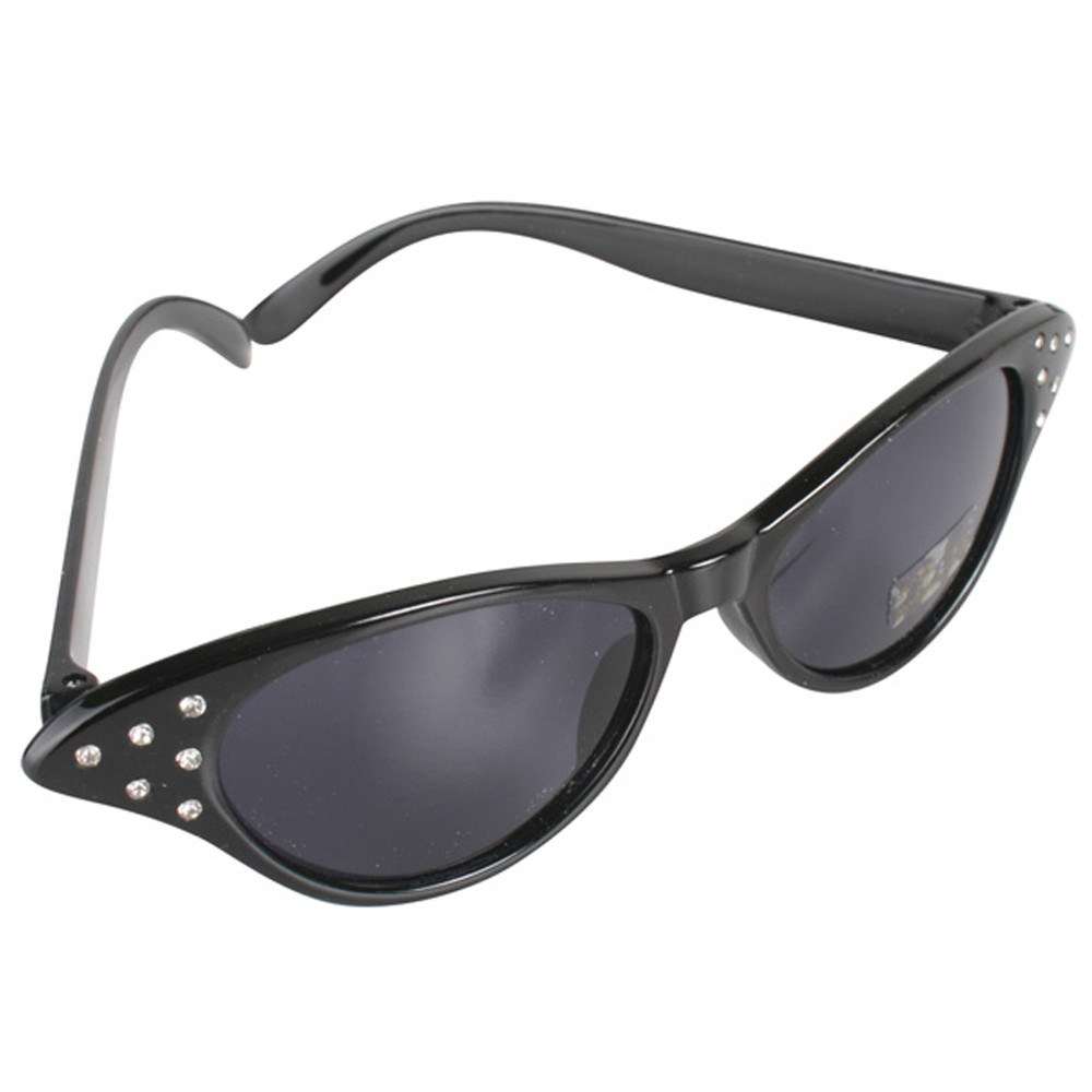 1950s Black Glasses with Diamontes