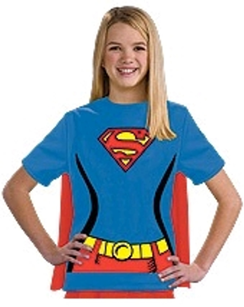 Supergirl T-shirt Girls Costume
