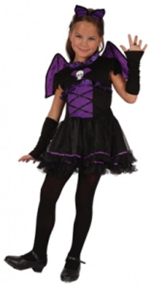 Bat Purple Girls Costume