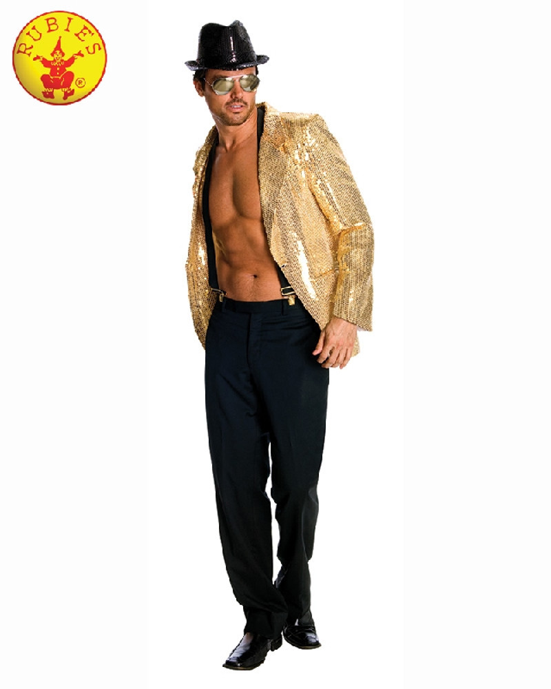 Gold Sequin Jacket Mens Costume