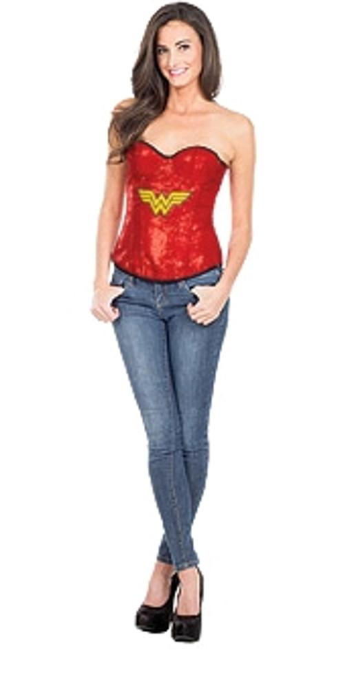 Wonder Woman Sequin Adult Corset