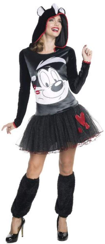 Looney Tunes - Pepe Le Pew Hooded Womens Costume
