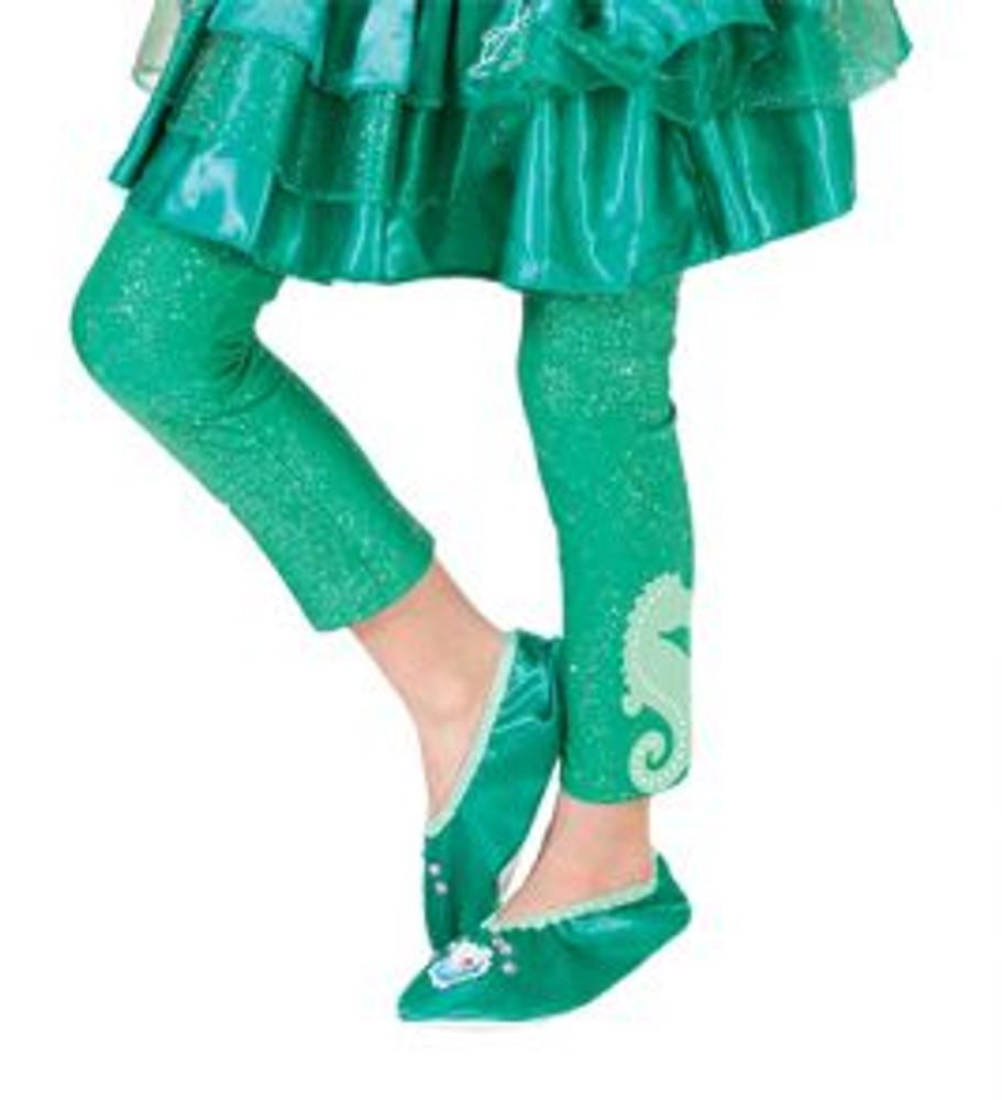 Little Mermaid Ariel Girls Footless Tights