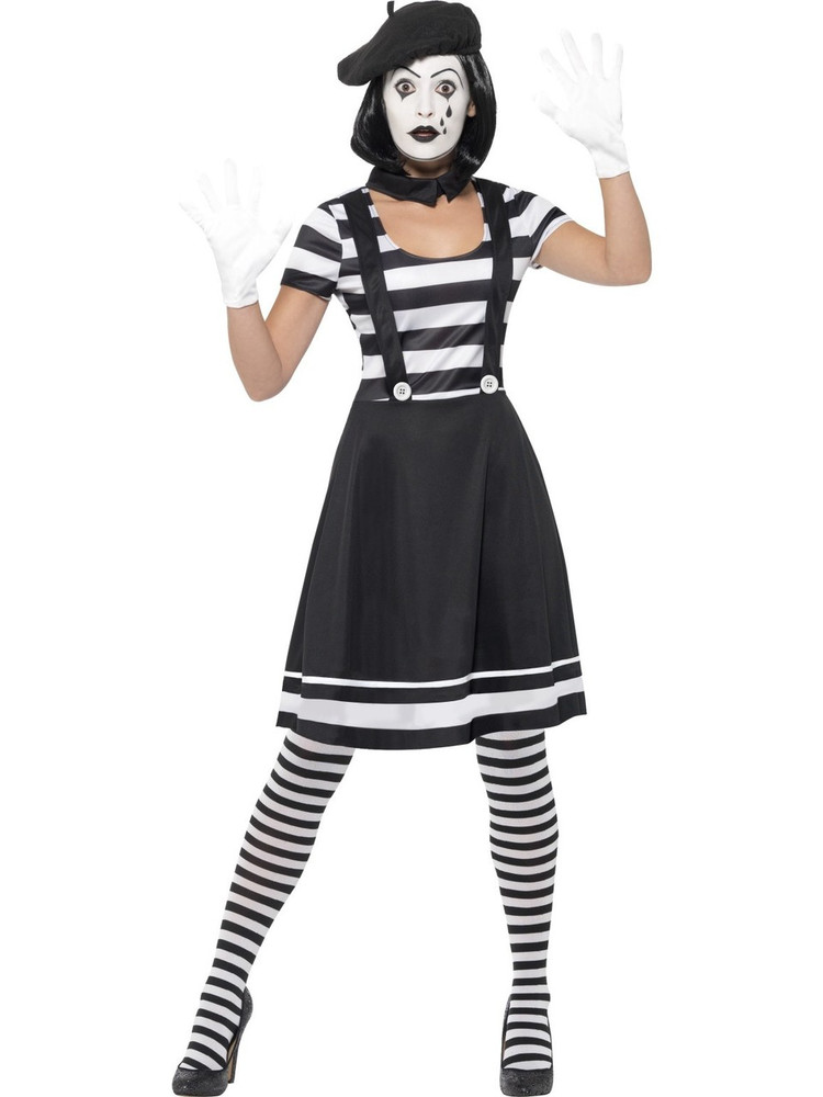 Mime Artist Womens Costume
