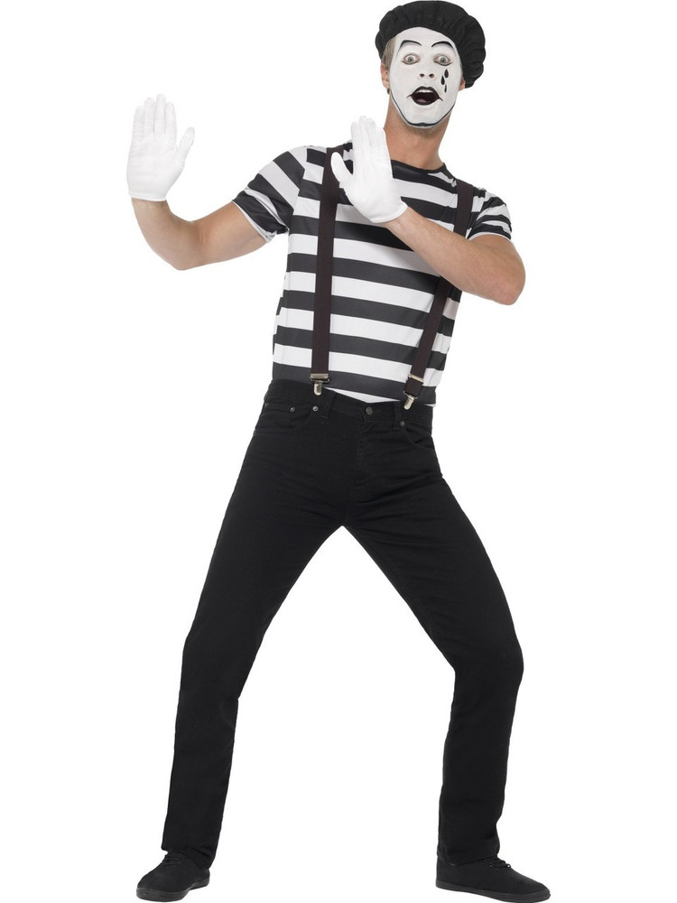 Mime Artist Mens Costume