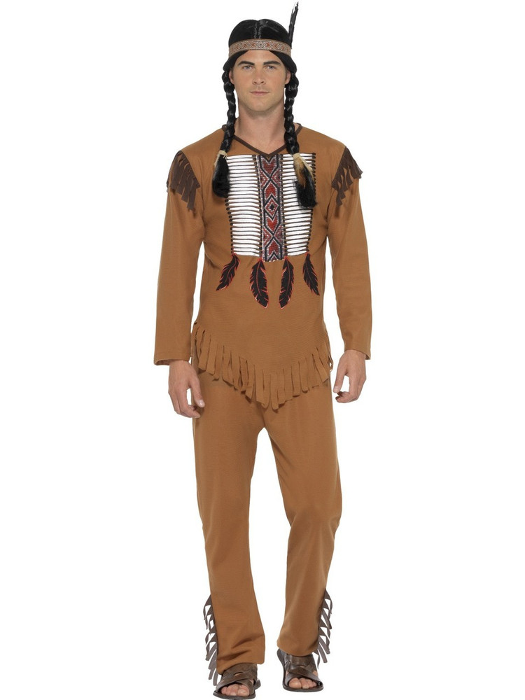 Indian Native Western Warrior Mens Costume