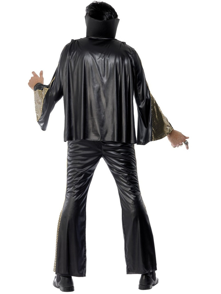 Elvis Black & Gold Mens Costume
