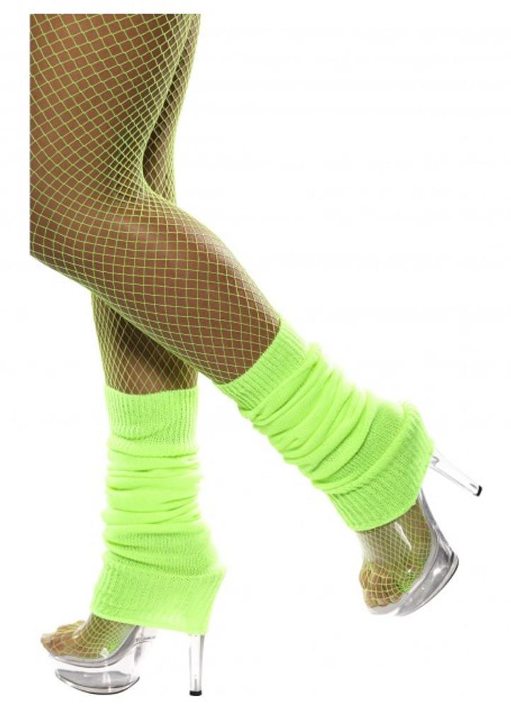 80s Leg Warmers - Neon Green