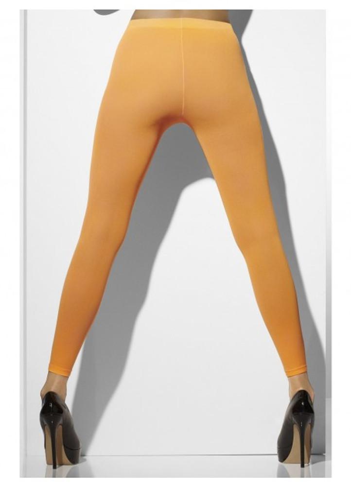 Footless Tights, Neon Orange