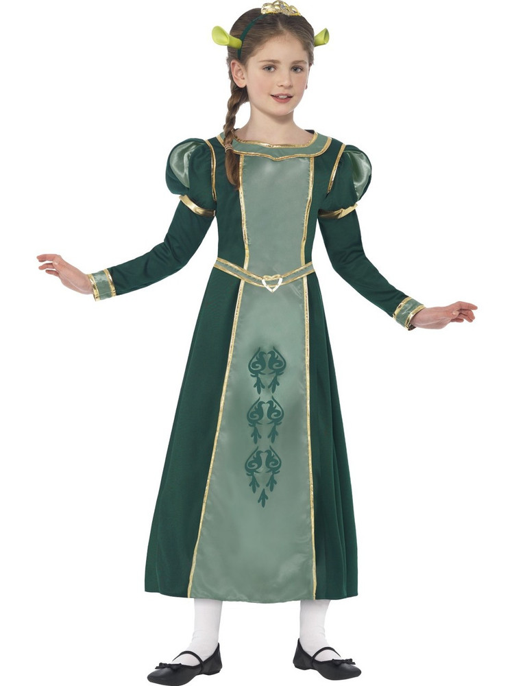 Shrek Princess Fiona Girls Costume