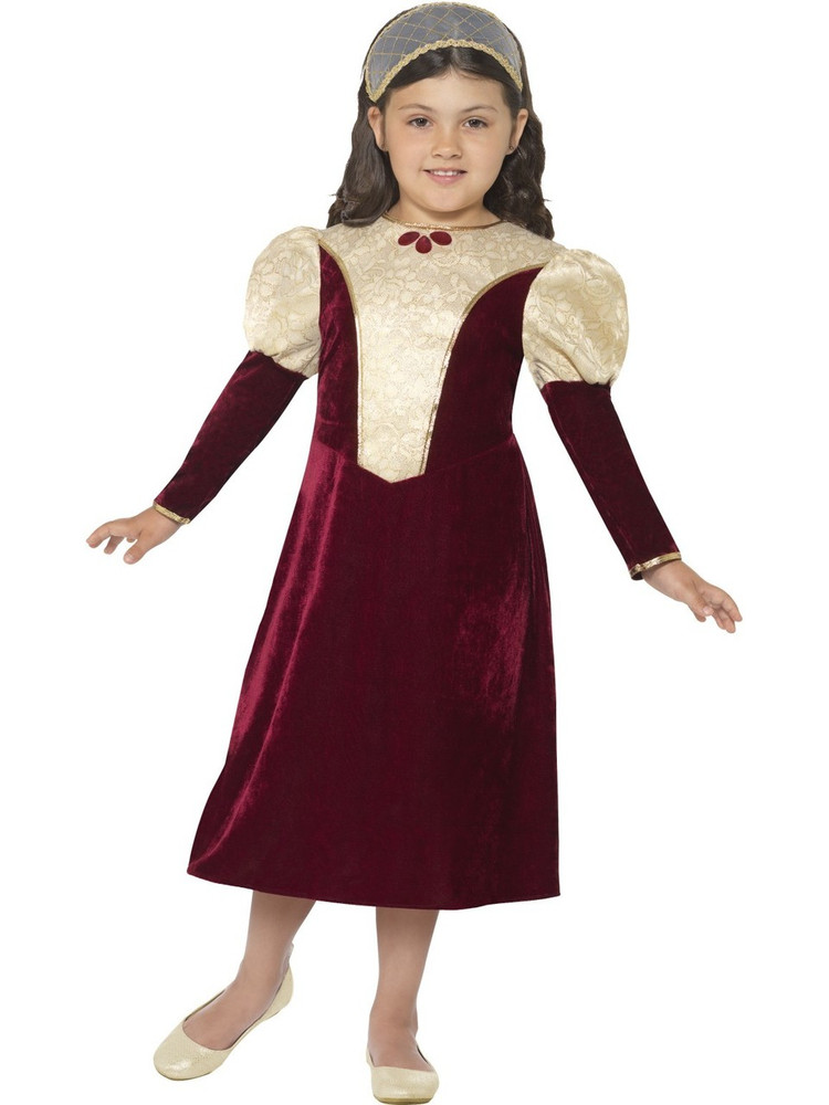 Tudor Damsel Girls Costume