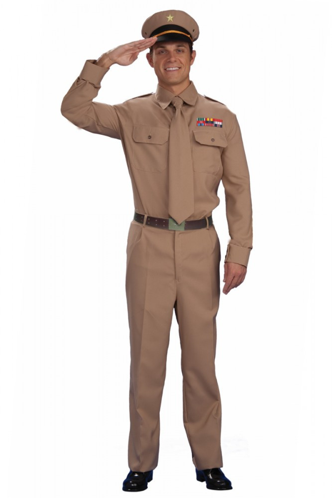 1940's WWII Army General Men's Costume
