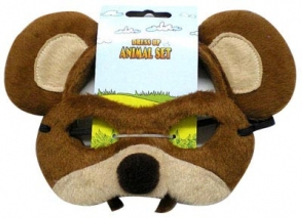 Bear Animal Headband & Mask Set