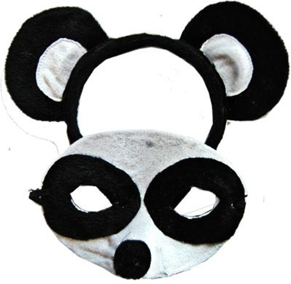 Panda Animal Headband & Mask Set