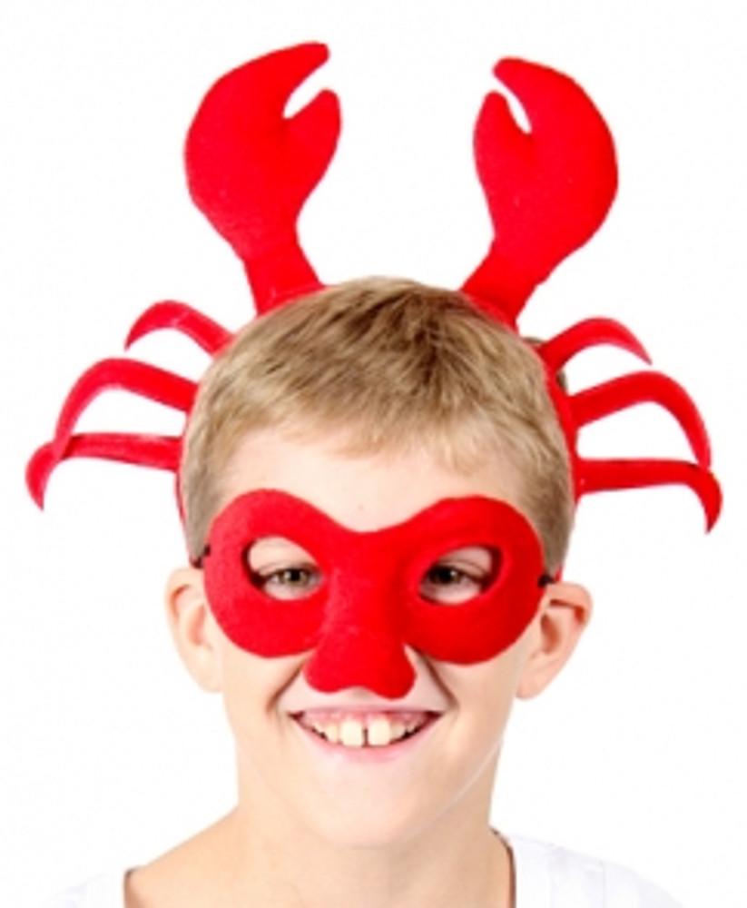 Crab Animal Headband & Mask Set