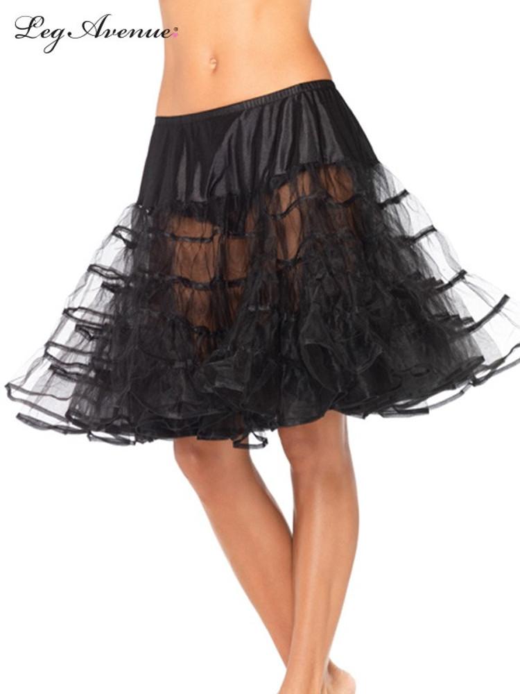 Petticoat Mid Length Black