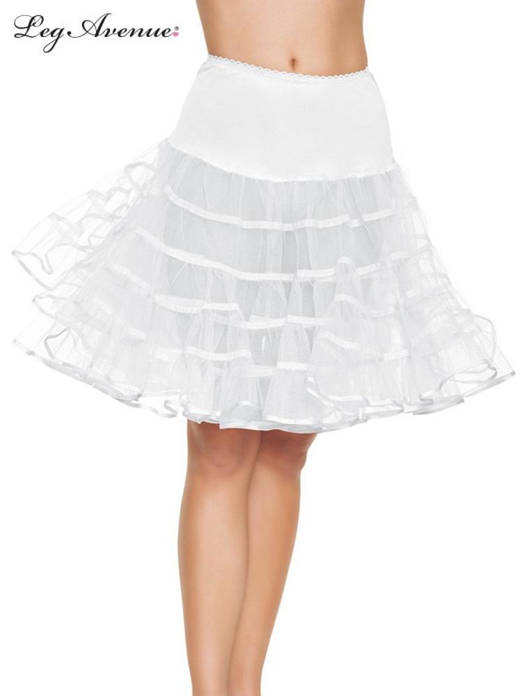 Petticoat Mid Length White