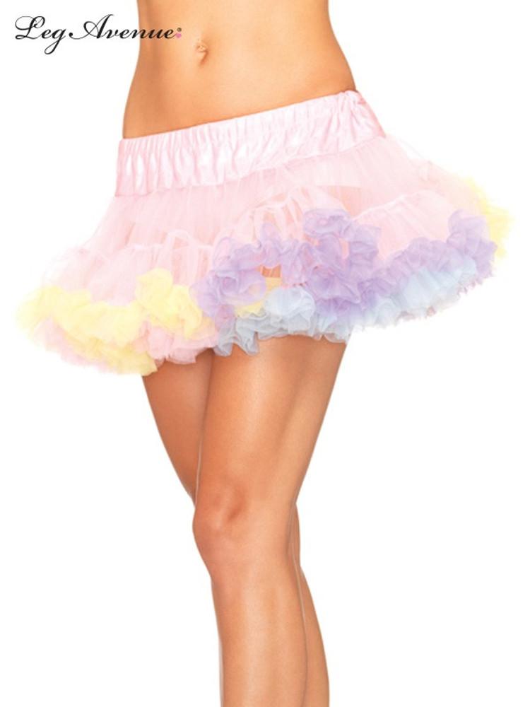 Petticoat Mini Tulle Rainbow Trimmed