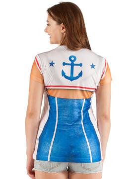 1940's 50s  Boogie Woogie Sailor Girl T-shirt