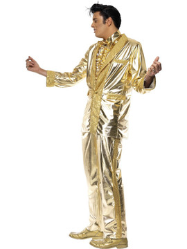 Elvis Gold Suit Mens Costume