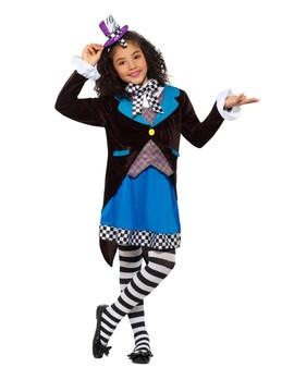 Alice In Wonderland Little Miss Hatter Kids Costume