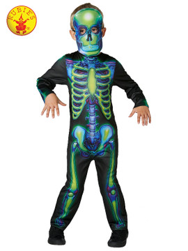 Skeleton Neon Glow in Dark Kids Costume