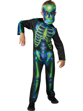 Skeleton Neon Glow in Dark Kids Costume