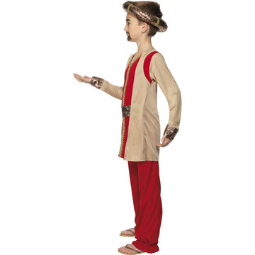 Nativity King Melchior Child Costume  Red and Gold