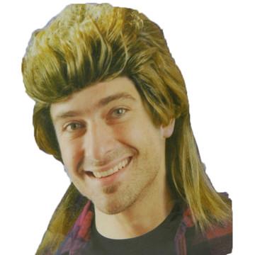 1980s Mullet Wig - Brown