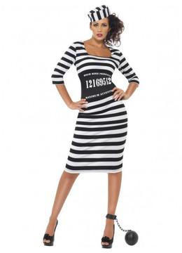 Prisoner Convict Womens Costume