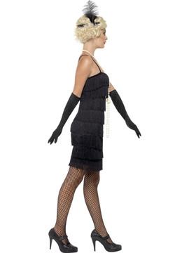 Flapper Black Womens Costume