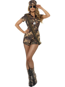 Army Girl Womens Costume