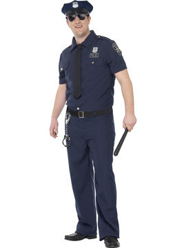 Police NYC Cop Plus Size Mens Costume