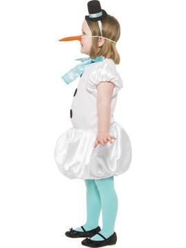 Puffball Snowgirl Kids Costume