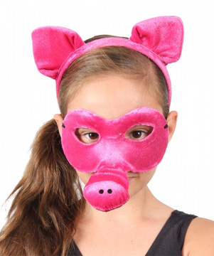 Pig Animal Headband & Mask Set