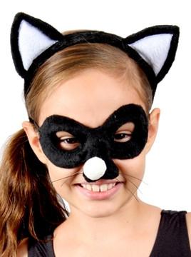 Cat Animal Headband & Mask Set