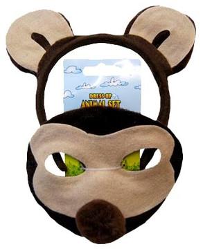 Monkey Animal Headband & Mask Set