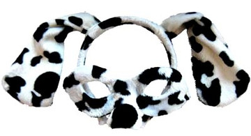 Dalmatian Animal Headband & Mask Set