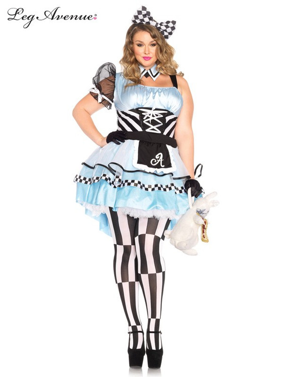Alice in Wonderland Psychedelic Alice Plus Size Womens Costume
