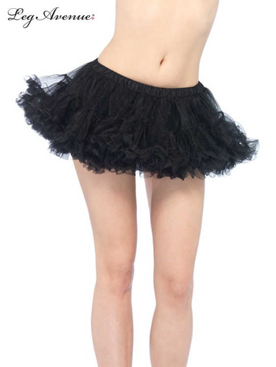 Petticoat Puffy Chiffon Mini Black