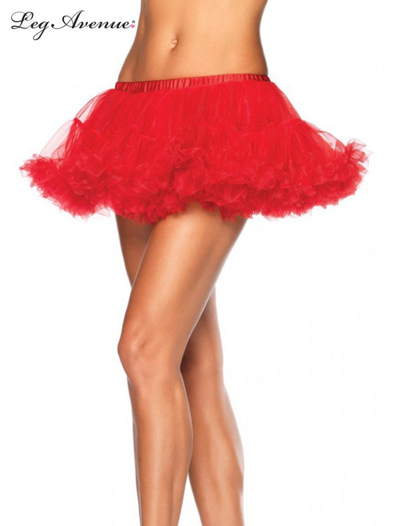 Petticoat Puffy Chiffon Mini Red
