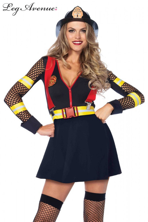 Fire Captain Red Hot Womens Costume