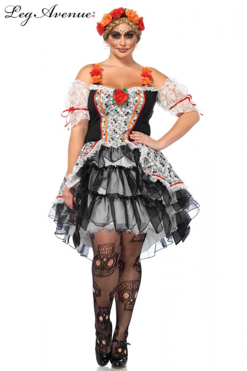 Sugar Skull Senorita Plus Size Womens Costume