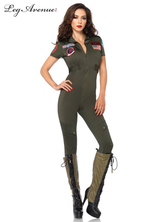 Top Gun Womens Flight Catsuit Costume