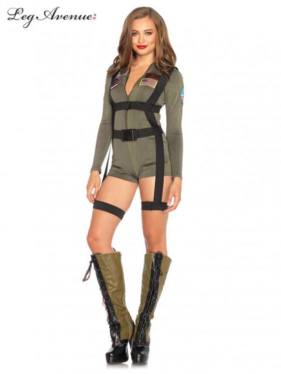 Top Gun Womens Romper Costume