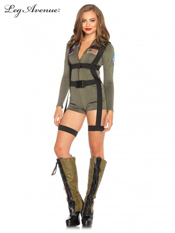 Top Gun Womens Romper Costume
