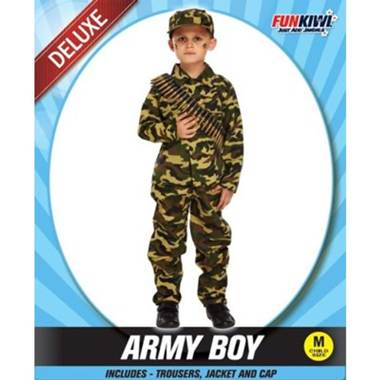 Army Boy Kids Costume