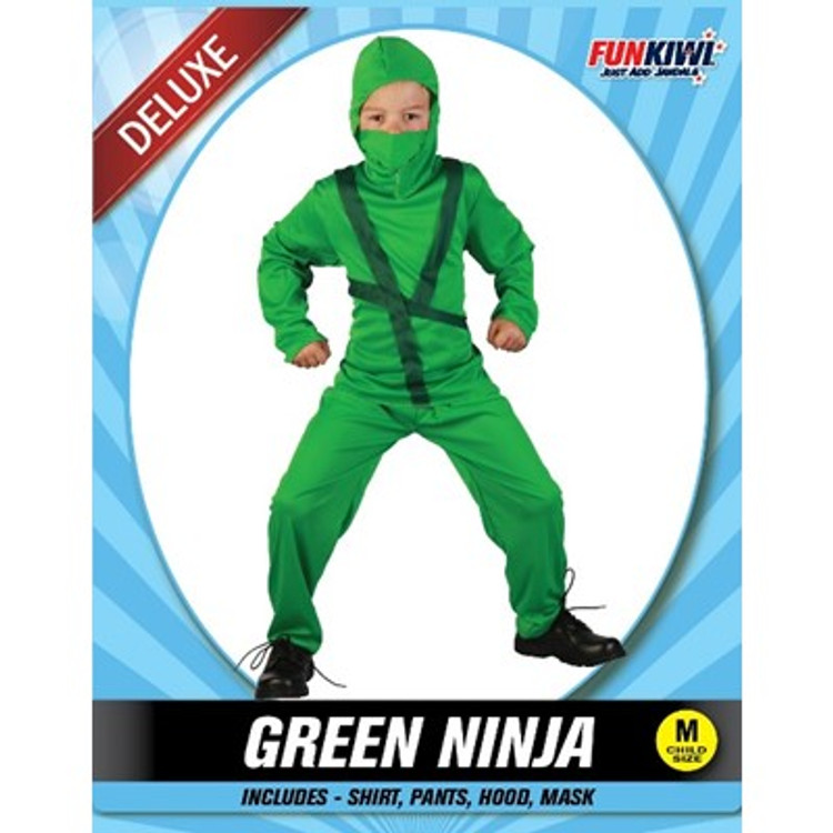 Ninja Green Kids Costume